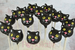 Black cat cake pops