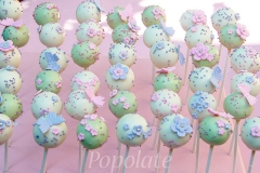 Butterfly and flower cake pops