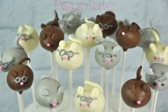 Cute mouse cake pops
