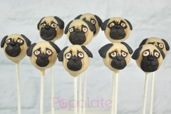 Cute pug dog cake pops