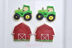 Farm tractor cookies