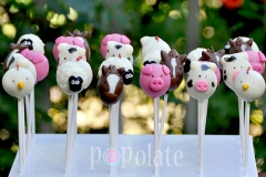 Farm animals cake pops