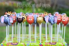 Jungle animals cake pops