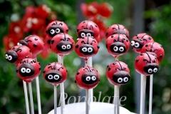 Ladybird cake pops