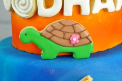 Turtle cookie, Moana cake