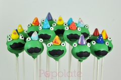 Party frog cake pops