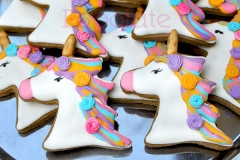Four-colour pastel unicorn cookies