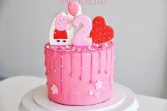 Peppa Pig Pink Cake
