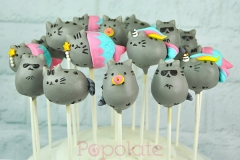 Pusheen cat cake pops, unicorn, mermaid, donut