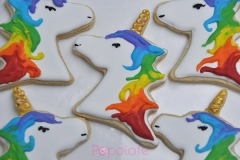 Rainbow unicorn cookie