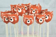 Red panda cake pops