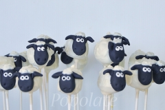Shaun the sheep cake pops