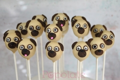 Simple pug cake pops