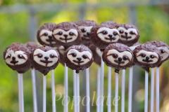 Sloth cake pops