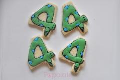 Snake number cookies