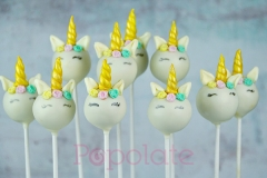 Unicorn cake pops pastel