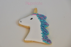 Unicorn iced biscuit