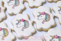 Pastel rainbow unicorn printed cookies