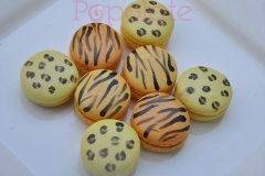 Wild animal print macarons