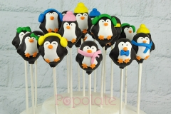 Penguin cake pops, winter themed