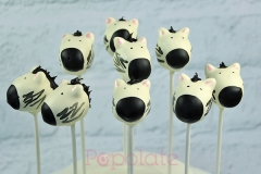 Cute zebra cake pops