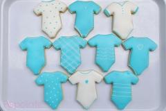 Baby boy onesie cookies