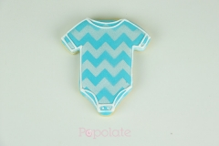 Baby shower onesie cookie