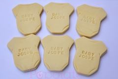 Baby romper personalised cookies