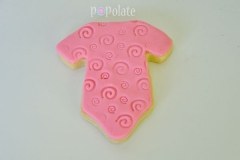 Baby shower cookies onsie