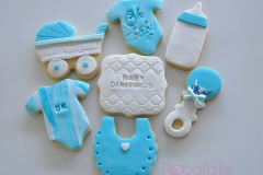 Baby Shower Fondant Cookies Set