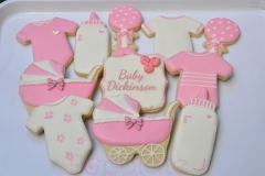 Personalised baby shower biscuit set