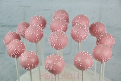 Cake pop sprinkles pink