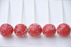 red sprinkle cake pops