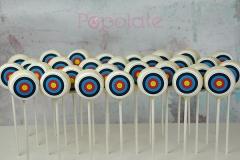 Archery cake pops