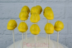 Safety hat cake pops