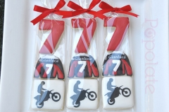 Motocross dirt bike cookies