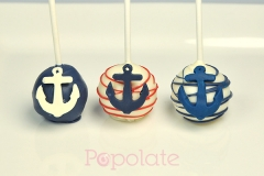 Nautical navy cake pops, anchor