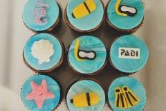 Scuba diving cupcakes