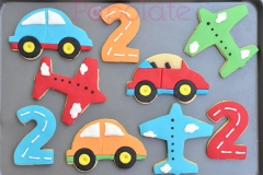 Car, plane, road