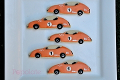 Vintage racing car cookies