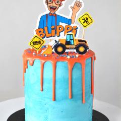 5 inch mini Blippi cake