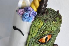 Unicorn Dragon Cake