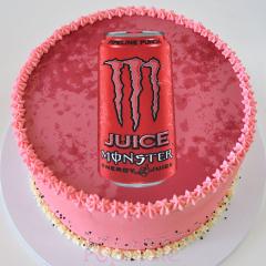 Monster Juice edible image cake