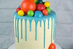 Rainbow chocolate spheres