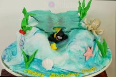 Underwater scuba diving cake