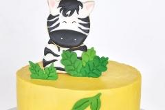 Zebra, cookie cake