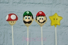 Mario Luigi mushroom star cake pops