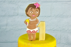 Baby Moana cookie