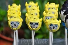 Bumblebee Transformers cake pops