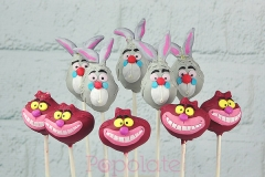 Cheshire cat, White Rabbit cake pops